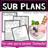 Emergency Sub Plans for 3rd Grade Homemade Ice Cream