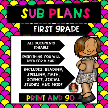 First Grade Sub Plans