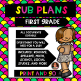 First Grade Sub Plans