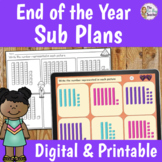End of the Year Activities for 1st Grade Sub Plans