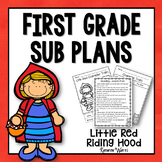 1st Grade Sub Plans Little Red Riding Hood