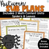 Sub Plans Autumn | Emergency Sub Plans