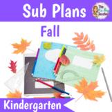 Sub Plans Kindergarten Fall
