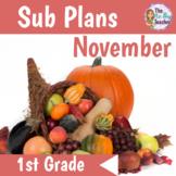 Sub Plans 1st Grade November