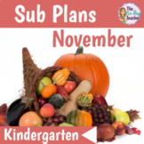 Sub Plans Kindergarten November