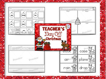 1st Grade Sub Plans Christmas