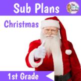 Christmas Sub Plans 1st Grade