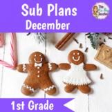 Sub Plans 1st Grade December