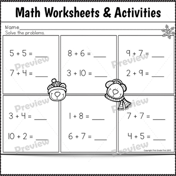 Sub Plans 1st Grade December 3 Full Days