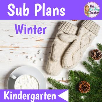 Winter Activities for Sub Plans Kindergarten