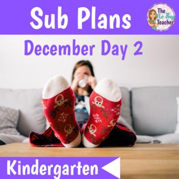 Sub Plans Kindergarten December Day 2