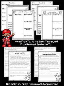 Second Grade Sub Plans December