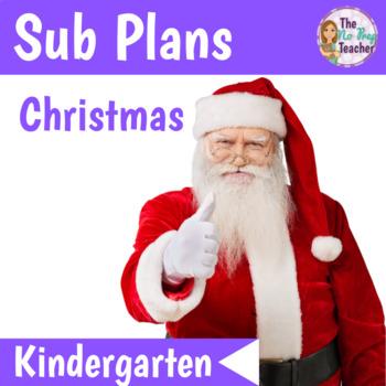 Kindergarten Sub Plans Christmas