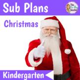Christmas Sub Plans Kindergarten