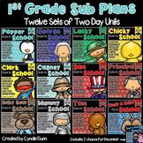 First Grade Sub Plans Bundle