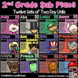 Second Grade Sub Plans Bundle