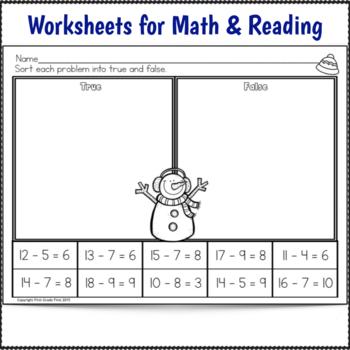 1st Grade Sub Plans Snowman Theme