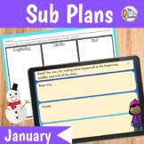 Sub Plans 1st Grade Snowman Theme