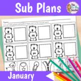Sub Plans 1st Grade January