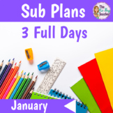 Sub Plans 1st Grade January Bundle