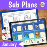 Sub Plans Kindergarten January