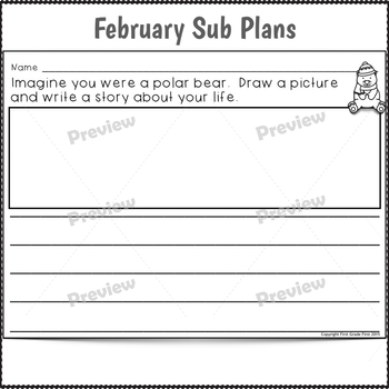 Sub Plans 2nd Grade February