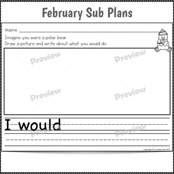 Sub Plans Kindergarten February