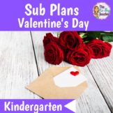 Valentine's Day Activities for Kindergarten Sub Plans
