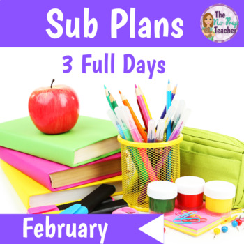 Sub Plans Kindergarten 3 Full Days February