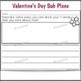 2nd Grade Sub Plans Valentine's Day