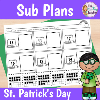 St. Patrick's Day Activities for Kindergarten Sub Plans