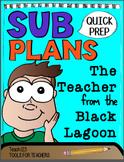 SUB PLANS Teacher from the Black Lagoon