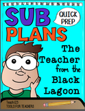 SUB PLANS Teacher from the Black Lagoon