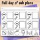 1st Grade Sub Plans March