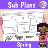 Sub Plans 1st Grade for Spring
