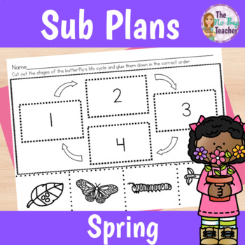 Spring Activities Sub Plans for 1st Grade