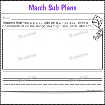 Sub Plans 1st Grade March 3 Full Days