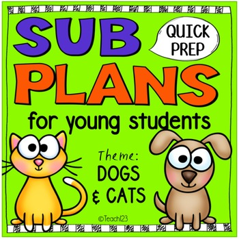 Sub Plans Teacher Binder Kindergarten 1st Grade