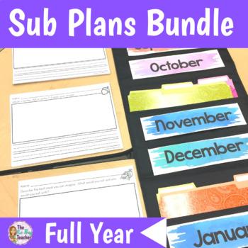 1st Grade Sub Plans Full Year Bundle