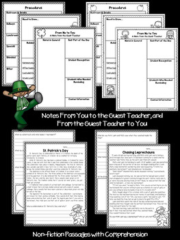 Second Grade Sub Plans March