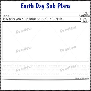 Earth Day Activities for Kindergarten Sub Plans