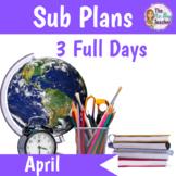 Sub Plans Kindergarten April 3 Full Days