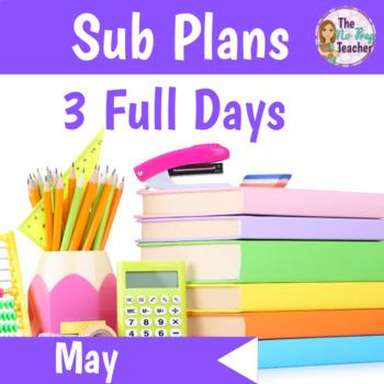 1st Grade No Prep Sub Plans May