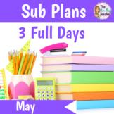 Sub Plans Kindergarten 3 Full Days May