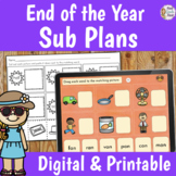 Sub Plans Kindergarten End of the Year