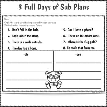 Sub Plans 1st Grade June Bundle