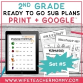 Sub Plans 2nd Grade Set #5- Emergency Substitute Plans for Sub Tub