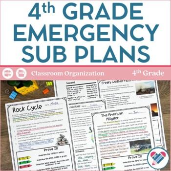 Sub Plans 4th Grade