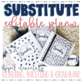 Sub Plans for 4th and 5th grade Reading and Writing
