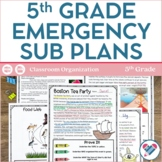 Sub Plans 5th Grade